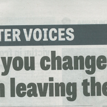 Doncaster Free Press 2nd Aug 2018 | Would you change your mind on leaving the EU