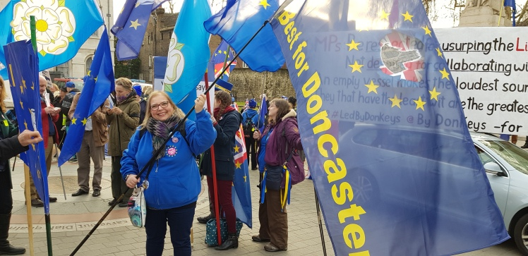 Flag waving with SODEM 1 | Yorkshire for Europe