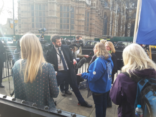 Yorkshire campaigners meet MPs and media in Westminster