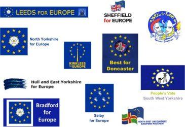 Yorkshire for Europe logos