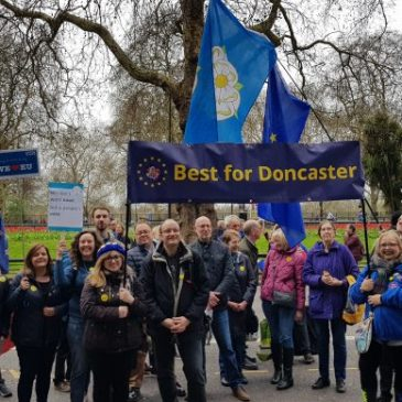 Doncaster and Yorkshire protesters at People's Vote march