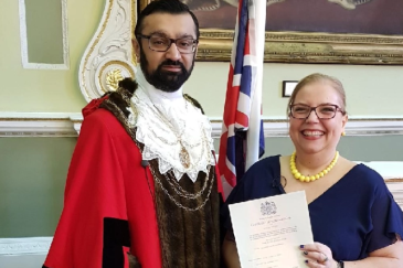 Frederika Roberts | British Citizenship because of Brexit | Doncaster | Majid Khan Civic Mayor
